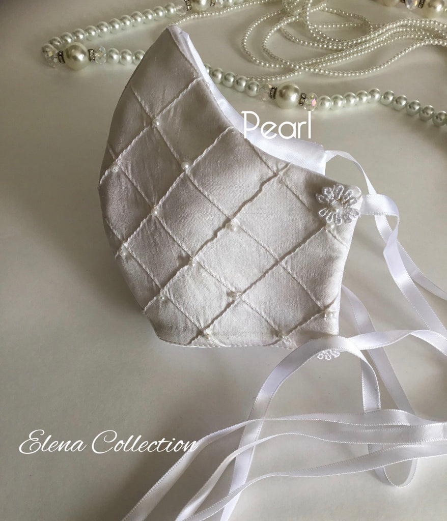 Bridal Face Mask - Pearl White