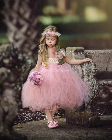 Flower Girl Tutu Dress-Rose