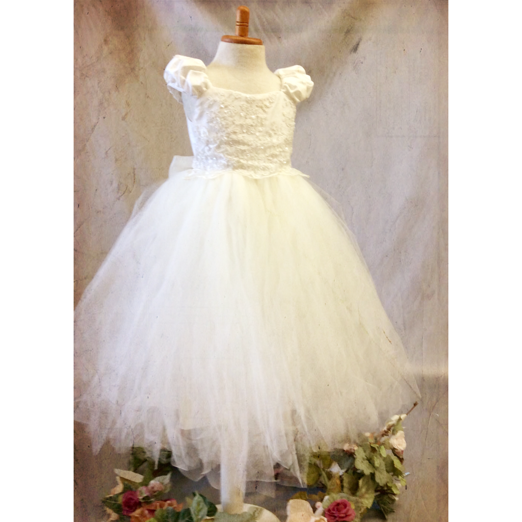 Flower girl tutu dress-bridal-Divina - ElenaCollection  - 1