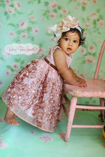 Nikita Baby Girl Dress - Photo prop - Special Occasion - ElenaCollection  - 1