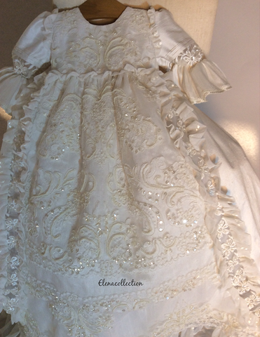 Christening gown-heirloom baptism-William and Kate - ElenaCollection  - 1
