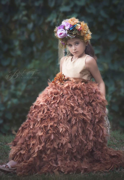 Feather dress for rent-