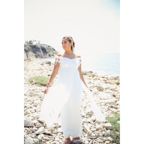 Wedding Dress-Bridal-Photo-prop-bridesmade-boho dress-Titanic - ElenaCollection  - 1