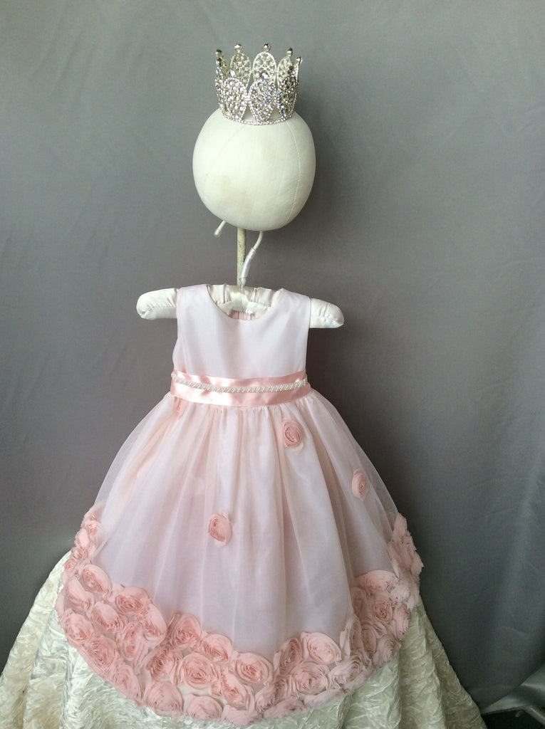 Flower baby girl dress-Baptism-Christening-Brandy - ElenaCollection  - 8