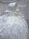 Christening Gown Girl/ Baptism Gown - Butterfly
