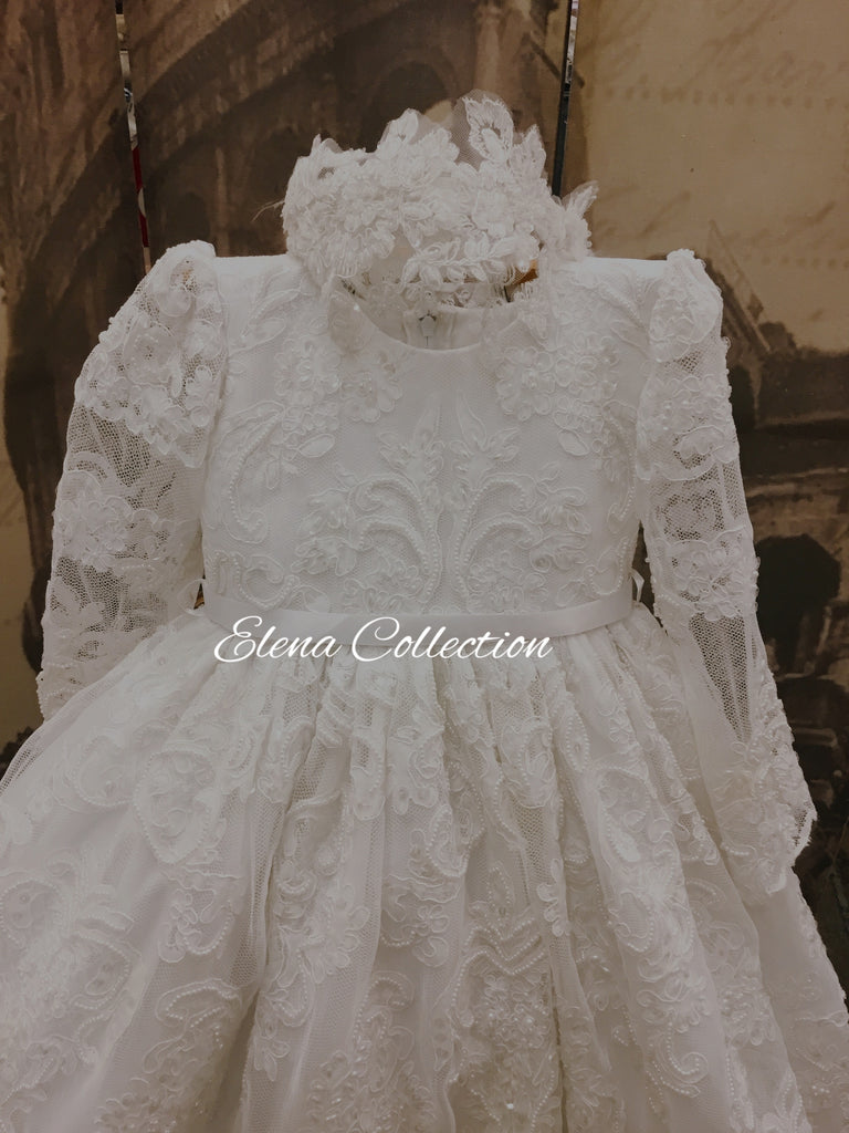 Christening lace dress-Brenda