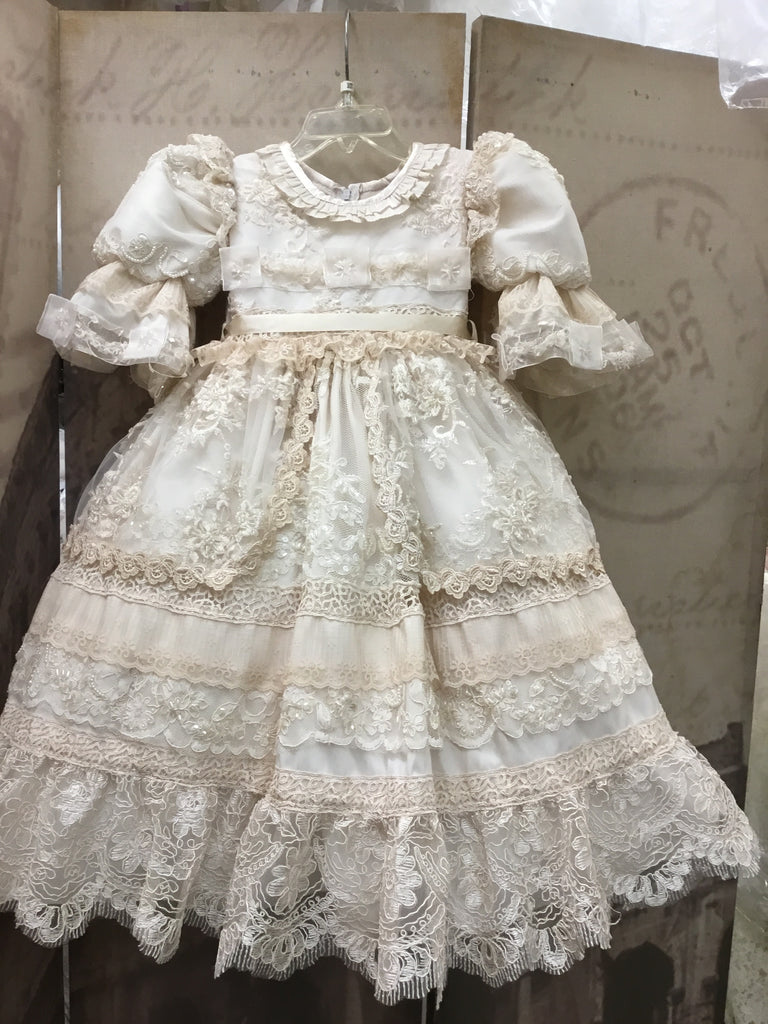 Victorian baptism toddlers dress-Lucia