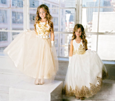Flower girls tutu dresses-Ava