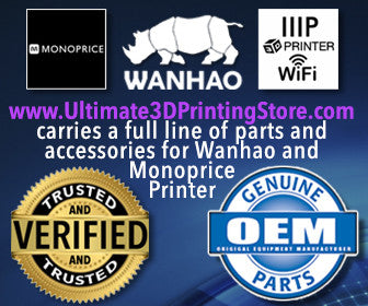 ultimate 3d printing store 3d printer wanhao usa monoprice craftbot parts accessories tampa florida