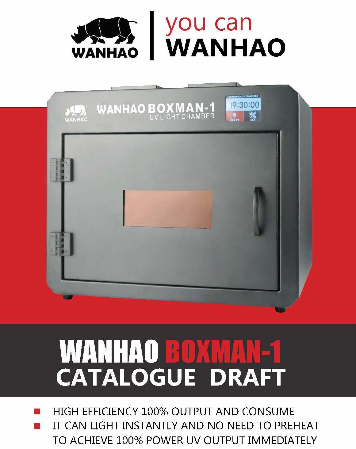 WANHAO BOXMAN - 1 - PROFESSIONAL CURING STATION FOR RESIN PRINTERS