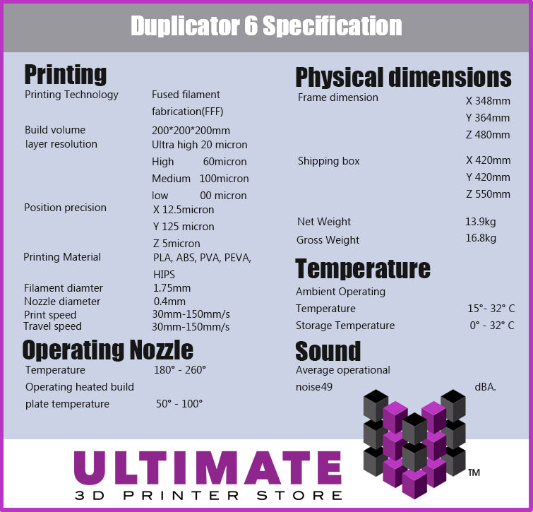 Wanhao Duplicator 6 3D Desktop Printer
