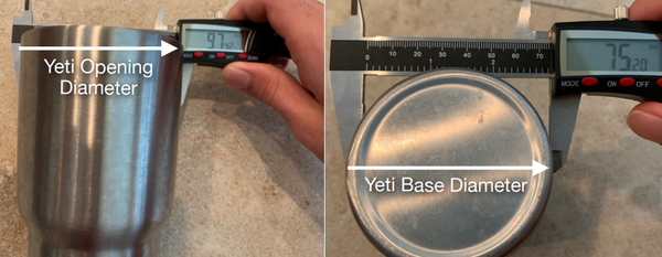 Measure the container for 3d printing