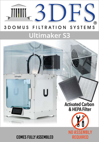 3DFS - Compatible Enclosure with HEPA Cover For Ultimaker S3 - Ultimate 3D Printing Store