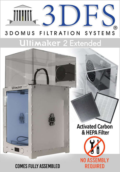 3DFS - Ultimaker 2 extended safety enclosure kit incl. activated carbon and HEPA filtration systems - Ultimate 3D Printing Store