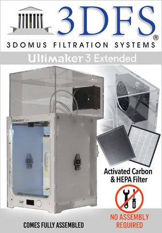 3DFS - Ultimaker 3 extended safety enclosure kit incl. activated carbon and HEPA filtration systems - Ultimate 3D Printing Store