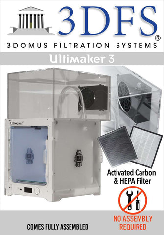 3DFS - Ultimaker 3 safety enclosure kit incl. activated carbon and HEPA filtration systems - Ultimate 3D Printing Store