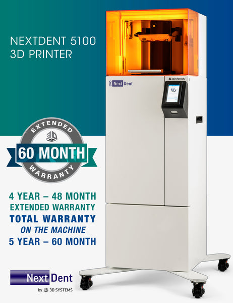 NextDent™ 5100 High Speed Dental 3D Printer 4 Year Extended Warranty - Ultimate 3D Printing Store