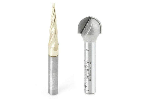 ABS203 - Axiom 2pc CNC Carving Bit Set for Iconic 1/4 Shank by Amana Tool - Ultimate 3D Printing Store