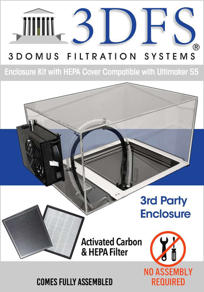 Enclosure Kit with HEPA Cover Compatible with Ultimaker S5 - 3DFS - Ultimate 3D Printing Store