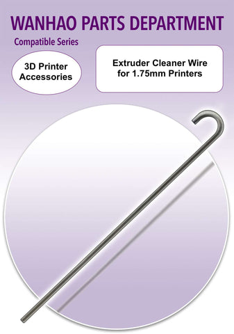 Extruder cleaner wire for 1.75mm printers * 3D printer upgrade accessories * 3D printer spare parts - Ultimate 3D Printing Store