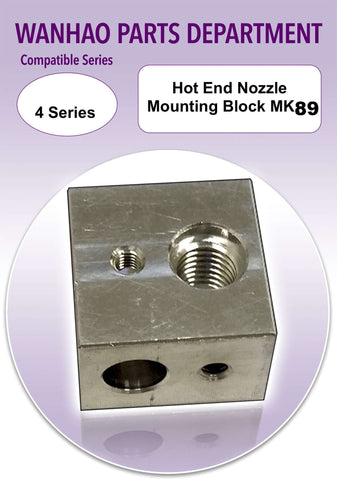 Hot end nozzle mounting block MK8/9 Wanhao duplicator 4 & Wanhao duplicator i3MINI - Ultimate 3D Printing Store