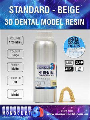 Monocure - Standard Model Dental Resin - Beige - Ultimate 3D Printing Store