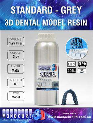 Monocure - Standard Model Dental Resin - Grey - Ultimate 3D Printing Store