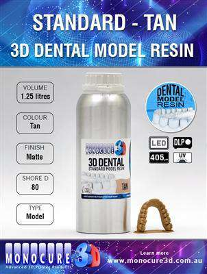 Monocure - Standard Model Dental Resin - Tan - Ultimate 3D Printing Store