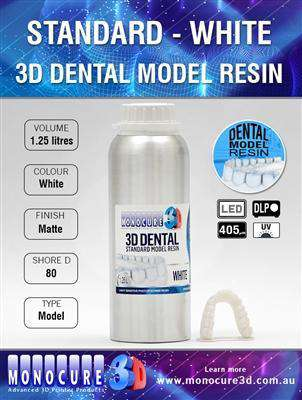 Monocure - Standard Model Dental Resin - White - Ultimate 3D Printing Store