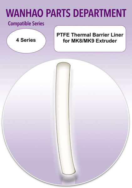 PTFE Thermal Barrier Liner for MK8/MK9 Extruder * 3D Printer Spare Parts - Ultimate 3D Printing Store