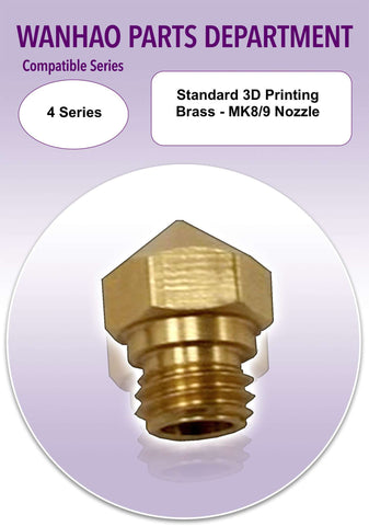 Standard 3D Printing Brass - MK8/9 Nozzle - Ultimate 3D Printing Store