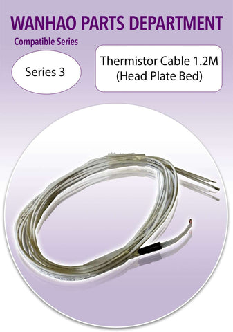 Wanhao Duplicator 3 Series 3D Printer Parts- Thermistor Cable HPB 1.2m - Ultimate 3D Printing Store