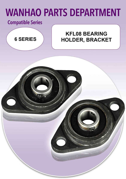 Wanhao Duplicator 6 Series 3D Printer Parts - KFL08 Bearing Holder, Bracket - Ultimate 3D Printing Store