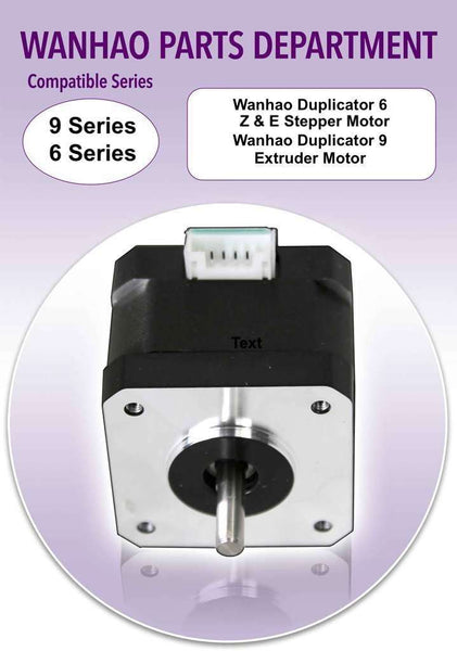 Wanhao Duplicator 6/9 Series 3D Printer Parts - D6-Z/E Axis Stepper Motor / D9-E - Ultimate 3D Printing Store