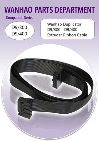 Wanhao Duplicator D9/300 - D9/400 - Extruder Ribbon Cable - Ultimate 3D Printing Store