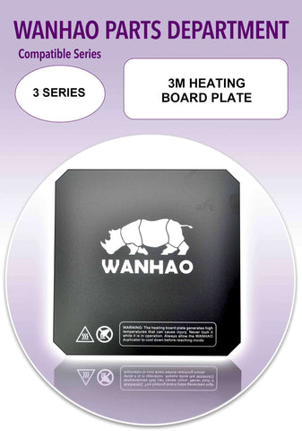 Wanhao Duplicator i3 - 3 Series 3D Printer Parts - 3M Heating Board Plate - Ultimate 3D Printing Store
