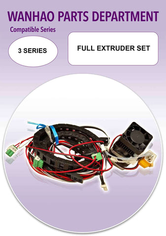 Full Extruder Set by Wanhao for Duplicator i3 and 3 Series
