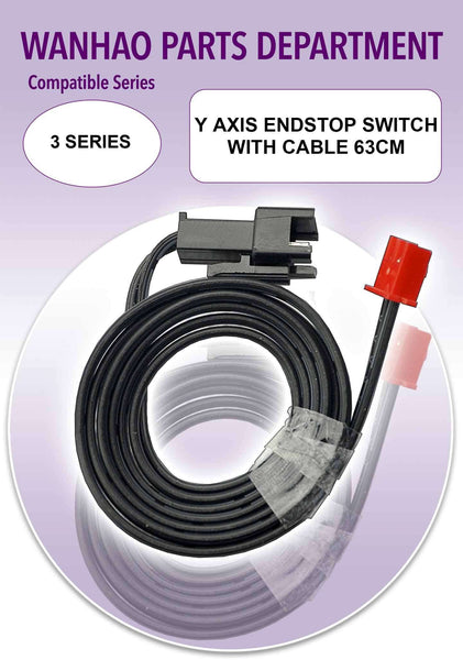 Wanhao Duplicator i3 Plus 3D Printer Parts - Y Axis Endstop Switch with Cable 63cm - Ultimate 3D Printing Store