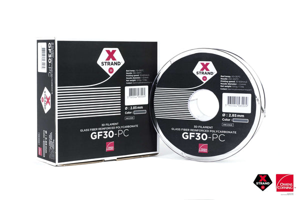 XStrand™ GF30-PC - 1.75MM - 500G - Gray - Ultimate 3D Printing Store