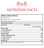 Hibiscus Extract Nutrition Facts
