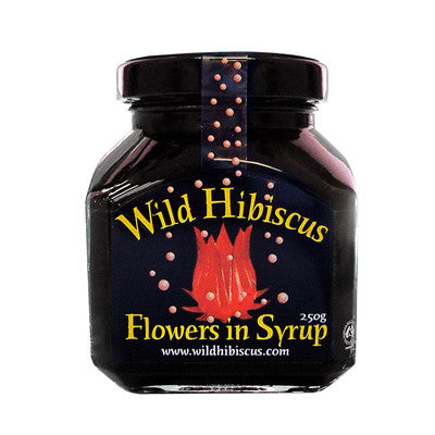 Wild Hibiscus Flowers In Syrup 11 Flowers In Syrup 250g