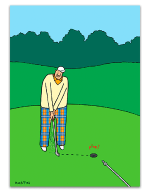 Man with Putter