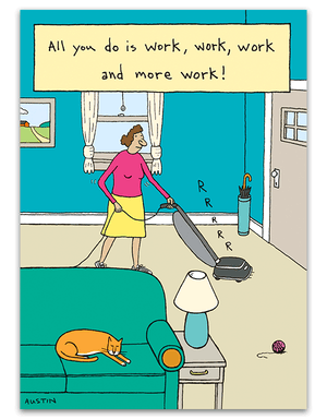 Vacuuming Lady
