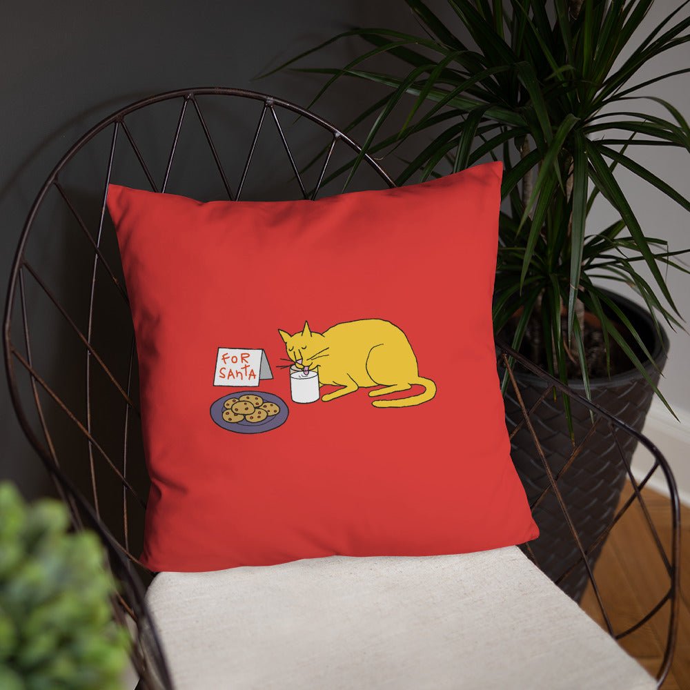 Holiday Kitty Throw Pillow