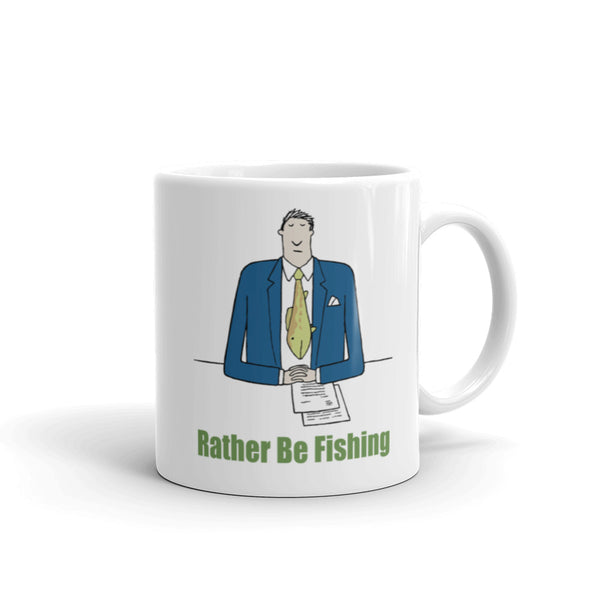 Rather Be Fishing Mug