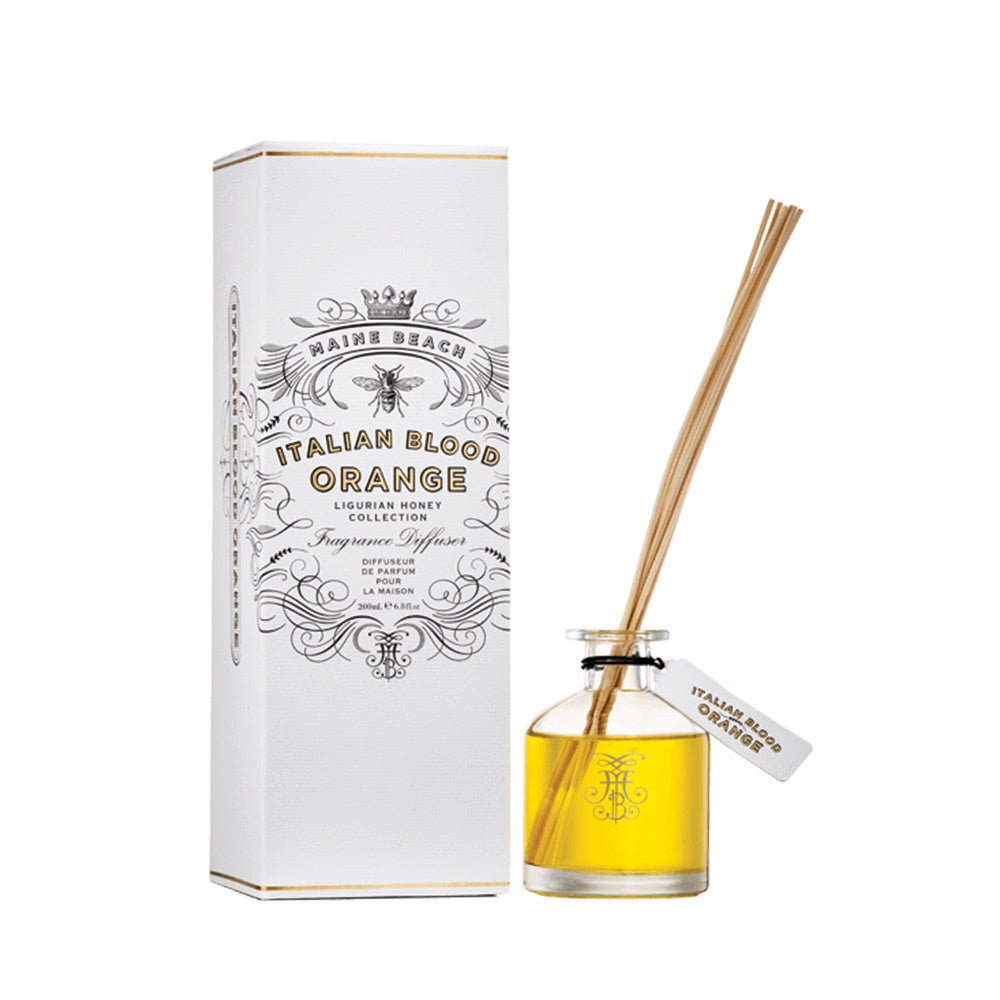 MAINE BEACH: Diffuser - Organic Ligurian Honey / Italian Blood Orange