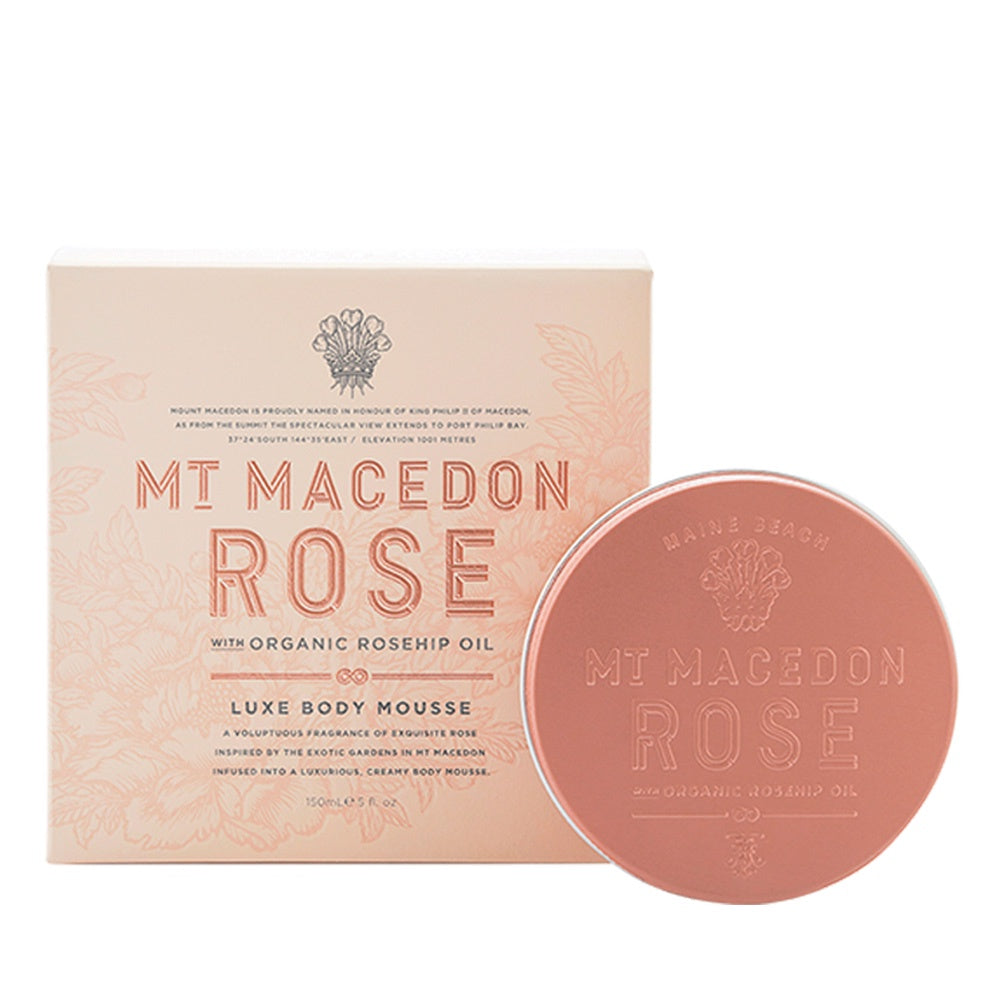 MAINE BEACH: BODY MOUSSE - MT MACEDON ROSE