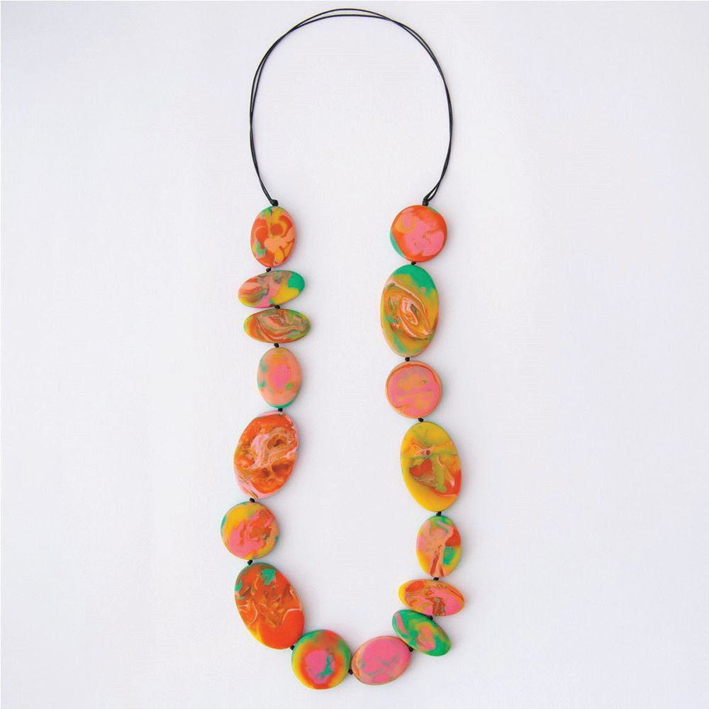 RUBY OLIVE: Paradiso Flat Artisan Necklace