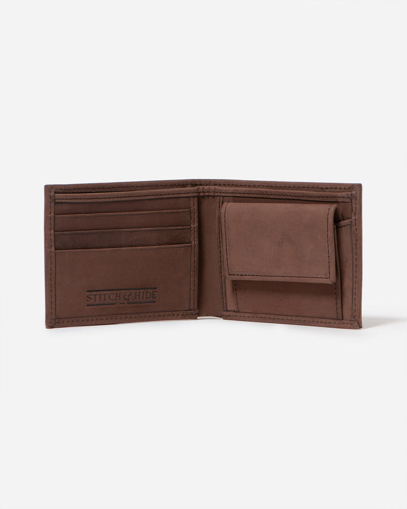 STITCH & HIDE: George Wallet / Brown