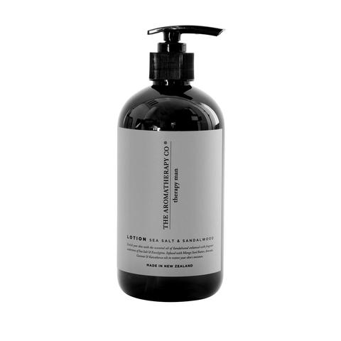 THE AROMATHERAPY CO: Therapy Man - Hand & Body Lotion / Sandalwood & Sea Salt